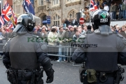 two-PSNI-Police-Service-Northern-Ireland-riot-control-officers-standing-guarding-during-loyalist-protest-parade-belfast-city-centre