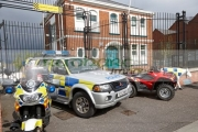 selection-police-vehicles-on-display-outside-holywood-police-station-on-an-open-day