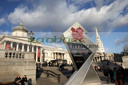 London 2012 countdown clock Trafalgar Square