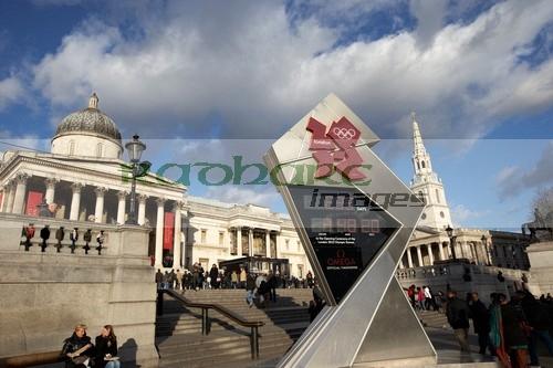 London 2012 countdown clock Trafalgar Square