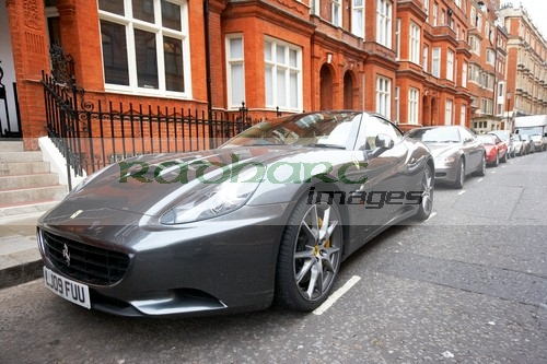 Ferrari California parked on Knightsbridge street