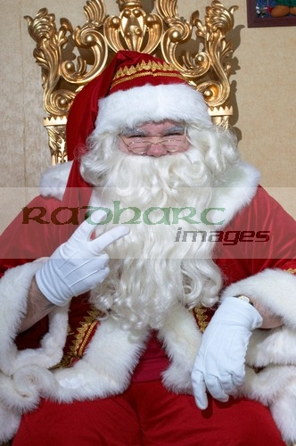 Santa giving two fingers