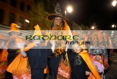 Halloween in Ireland - witches in Derry - fancy dress