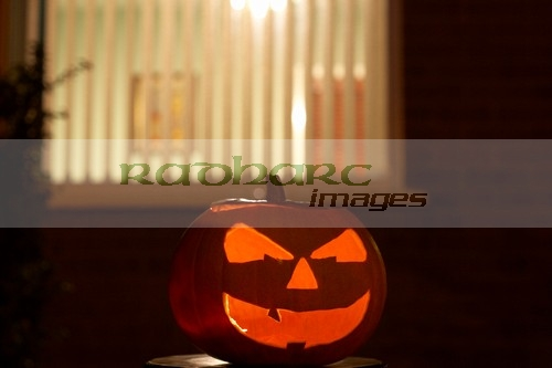 Halloween in Ireland - pumpkin jack lantern symbol of halloween samhain in america and ireland