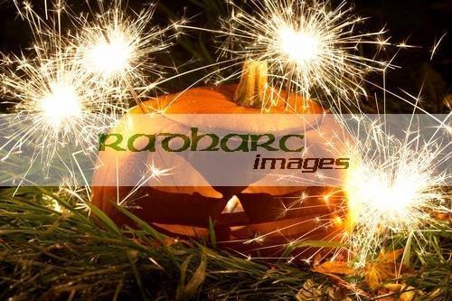 Halloween in Ireland - pumpkin - sparklers