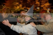 women-in-fancy-dress-costume-enjoying-the-conga-in-guildhall-square-Halloween-Derry-Ireland
