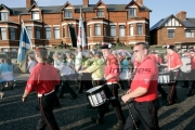 loyalist-band-marching-on-crumlin-road-at-ardoyne-shops-belfast-12th-July-2005