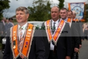 loyal-orange-lodge-members-known-as-orangemen-marching-during-12th-July-Orangefest-celebrations-in-Dromara-county-down-northern-ireland