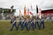 loyalist-flute-band-colour-party-parade-from-the-field-during-12th-July-Orangefest-celebrations-in-Dromara-county-down-northern-ireland