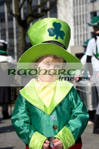 Young Boy dressed as leprechaun