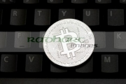 bitcoin-virtual-currency-on-computer-keyboard