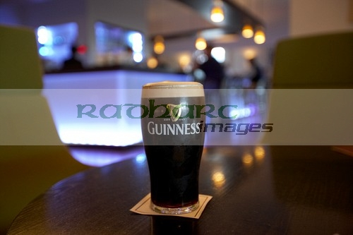 Pint of Guinness in Dublin hotel bar