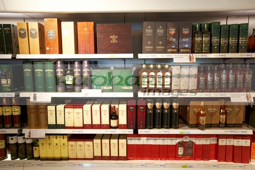 Whiskey selection at dublin airport duty free