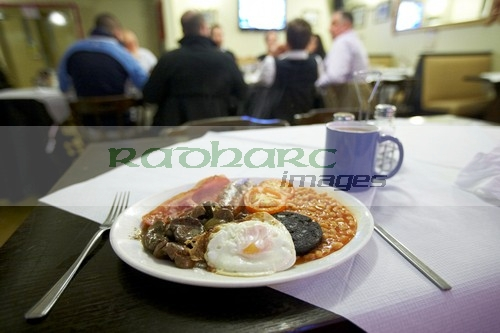 Full English fry up breakfast smithfield market london