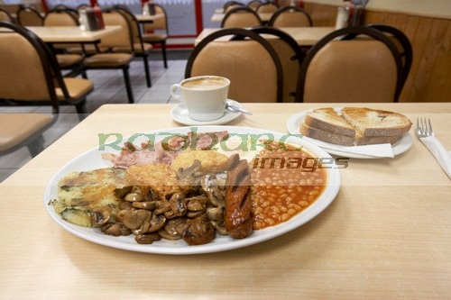 London greasy spoon fry up fried breakfast