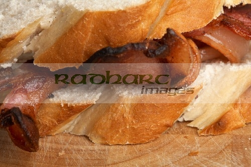 Forthill Farm Bacon in crusty loaf butty - Radharc Image - Joe Fox Photography