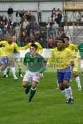 Northern-Ireland-7-Dominic-Melly-Brazil-7-Ralfe-head-towards-corner-kick-Northern-Ireland-v-Brazil,-Northern-Ireland-Milk-Cup-Elite-section-semi-final,-Coleraine-Showgrounds,-Northern-Ireland