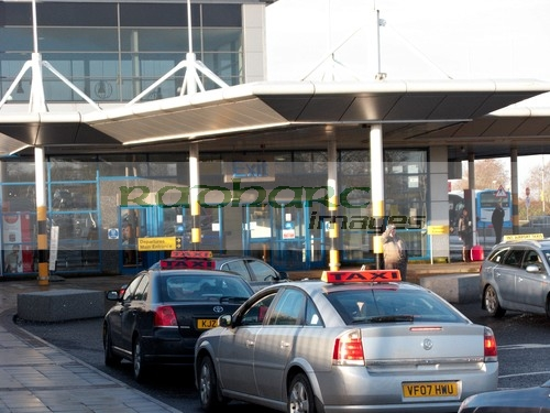 flying - taxi rank at Belfast International Airport