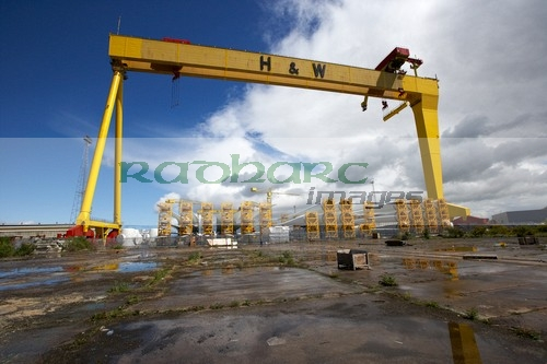 Harland and Wolff Shipyard Cranes