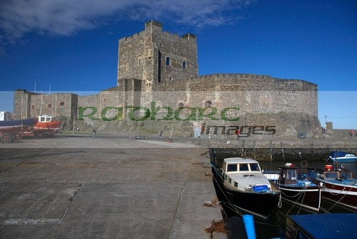 Belfast Lough - carrickfergus castle harbour view