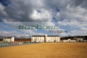 soldiers-quarters-with-clock-tower-parade-ground-in-ebrington-square-former-ebrington-barracks-british-military-base-Derry-city-county-londonderry-northern-ireland-uk.