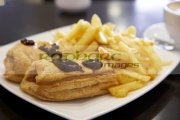 two-sausage-rolls-chips-with-brown-sauce-in-cheap-cafe-in-the-republic-ireland