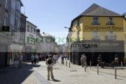 people-walking-down-pedestrian-area-william-street-on-sunday-Galway-city-county-Galway-Republic-Ireland