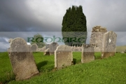 18th-century-irish-gravestones-next-to-the-ruins-St-Kierans-errigal-keerogue-church-county-tyrone-