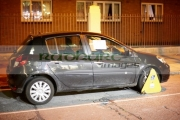 car-clamped-on-street-at-night-in-dublin-republic-ireland
