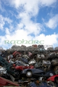 piles-crushed-scrapped-cars-at-metal-recycling-site-Belfast-Northern-Ireland-UK