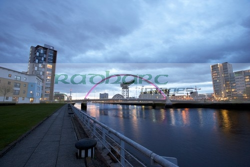 The River Clyde at Night in Glasgow