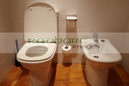 toilet and bidet in a hotel room salou, catalonia, spain