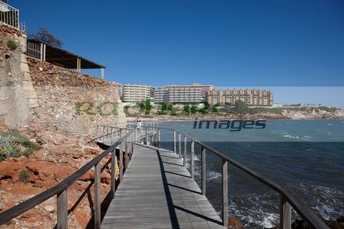 coastal path past salou waterfront properties on the costa dorada catalonia spain