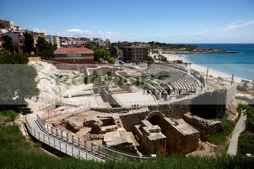 roman amphitheatre ruins of tarraco unesco world heritage site tarragona catalonia spain