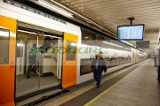 R2-Rodalies-de-Catalunya-train-in-passeig-de-gracia-underground-main-line-train-station-Barcelona-Catalonia-Spain