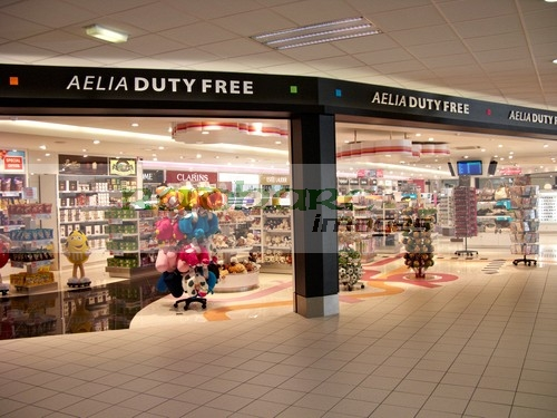 flying - airport duty free shop