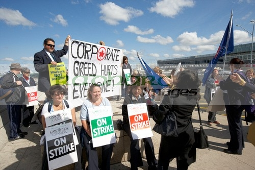 air canada workers on strike