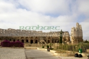 approach-to-the-old-colloseum-from-tourist-car-park-el-jem-tunisia