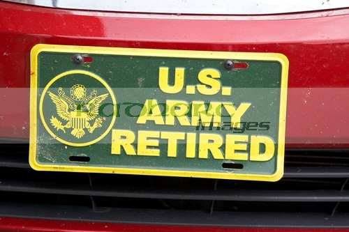 US Army retired number plate Nashville Tennessee