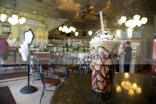 iced cappuccino ice cream parlour Nashville Tennessee