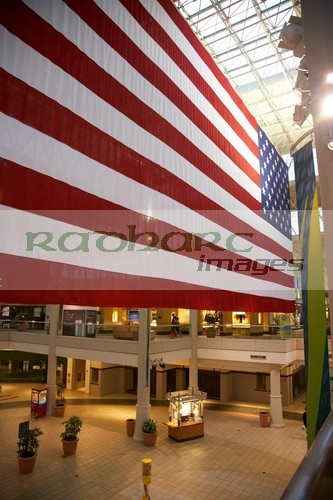 Huge american flag in Hickory Hollow Mall