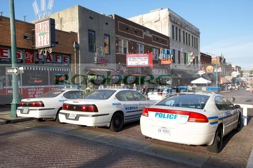 police cars Beale street Memphis