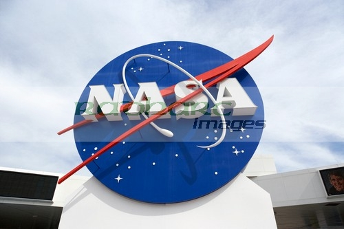 NASA logo at the Kennedy Space Center