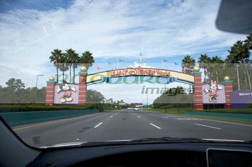Driving into Walt Disney World