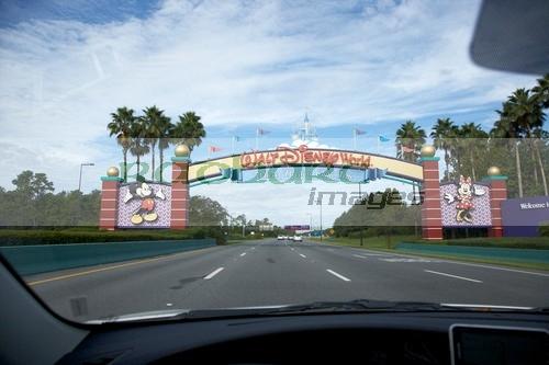 Driving into Walt Disney World