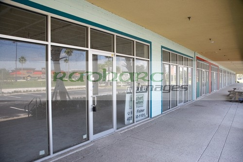 Empty Strip Mall Florida