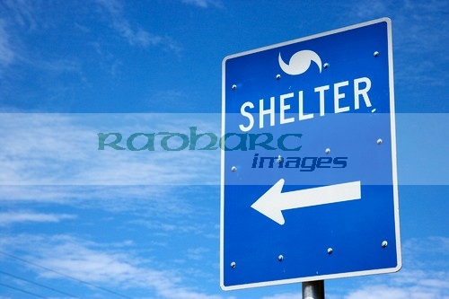 Florida Hurricane Shelter sign