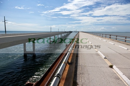 Old and new seven mile bridge overseas highway florida